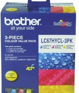 Brother LC67HYCL3PK Colour High Yield Ink Cartridge Triple Pack