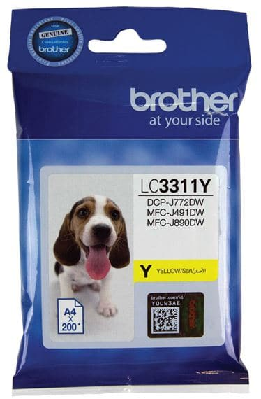 Brother LC3311Y Yellow Ink Cartridge