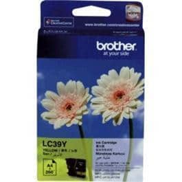 Brother Ink Cartridge LC39Y Yellow Inkjet 260 pages 1 / Page OEM